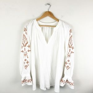 Anthropologie Eri + Ali Eyelet Lace Blouse